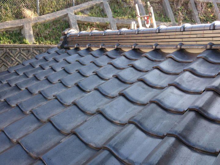 安佐南区 屋根瓦棟積み替え工事