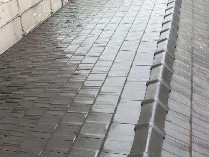 広島市安佐南区 F様邸屋根瓦葺き替え工事