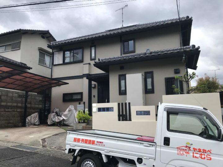 広島市安佐南区M様邸外壁塗装工事