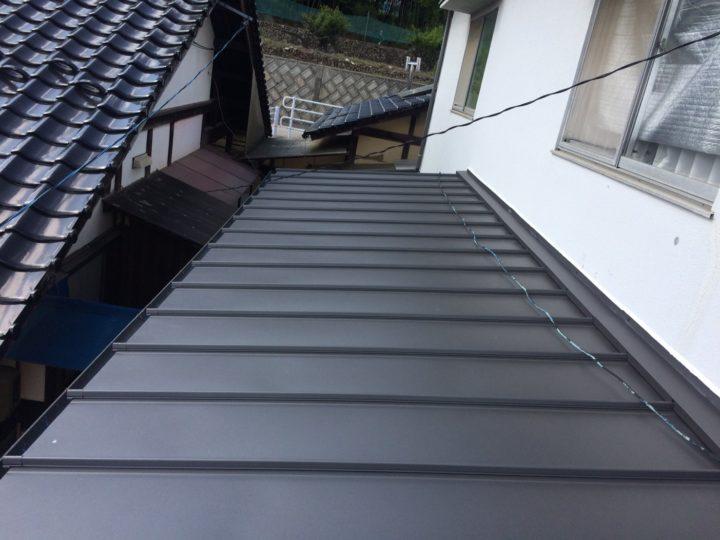 広島市安佐南区 K様邸 板金屋根葺き替え工事
