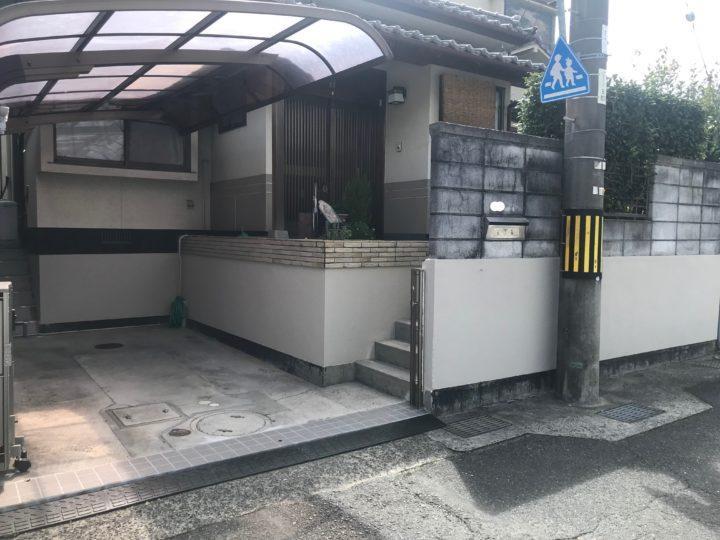 広島市安佐南区 M様邸ブロック塀塗装工事