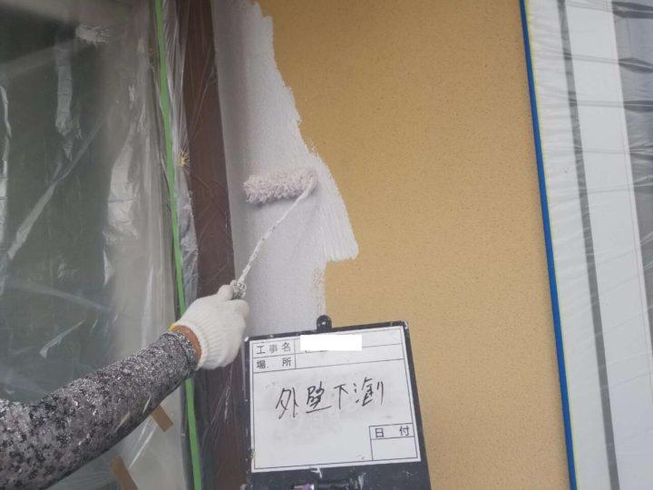 外壁/下塗り(1回目)