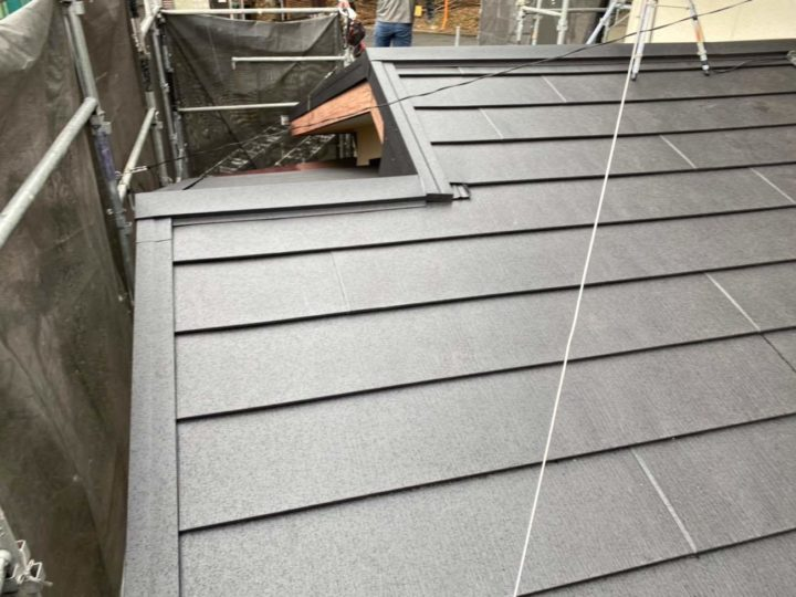 下屋根完了