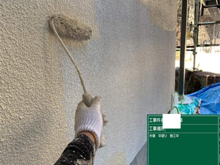 外壁/中塗り施工