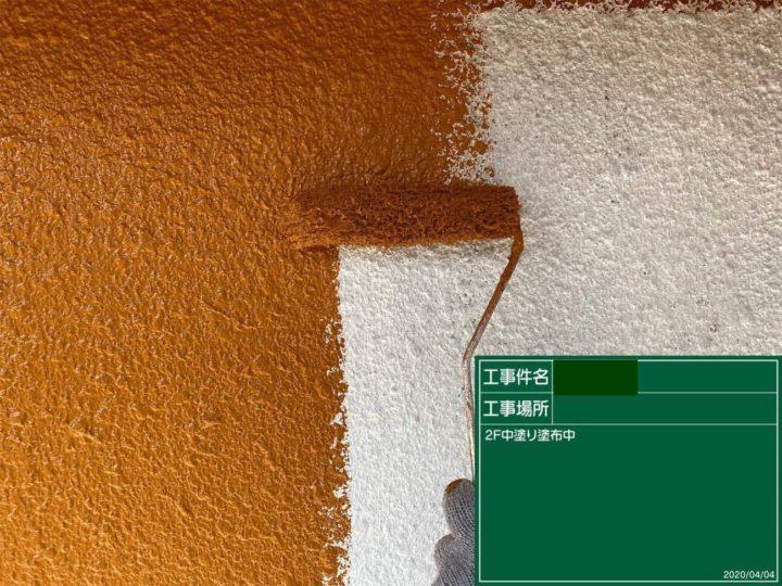 外壁2F部分/中塗り塗装