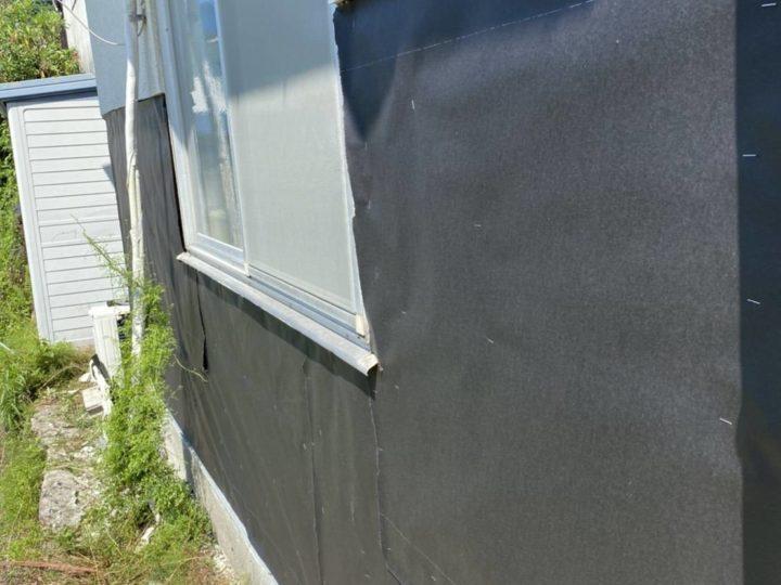 防水紙貼り付け工事