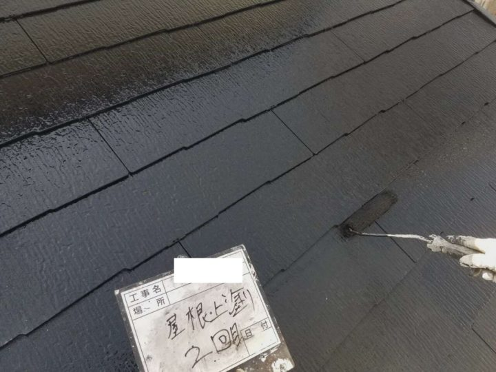 屋根/上塗り