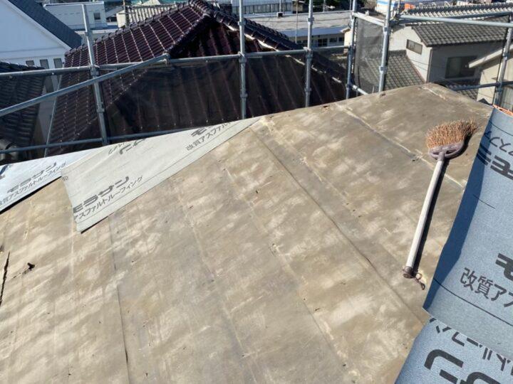 屋根下地材設置