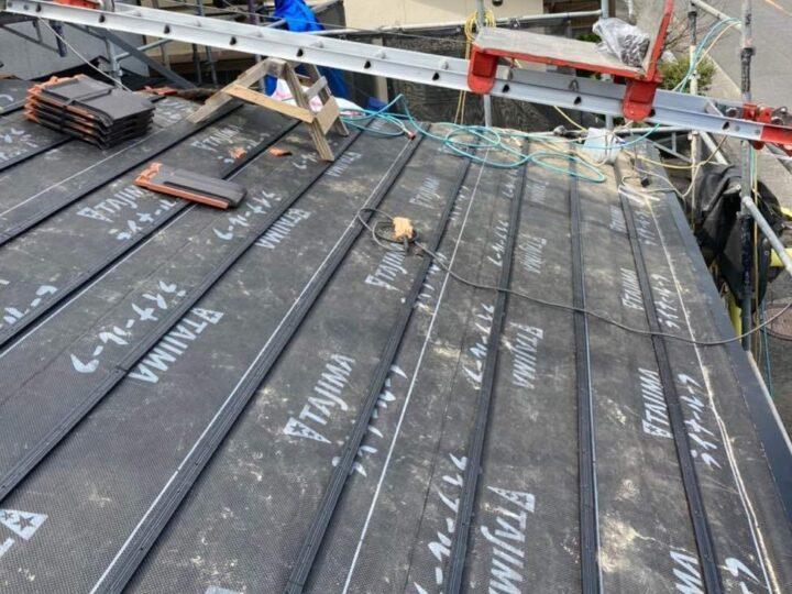 屋根下地材・浅木設置