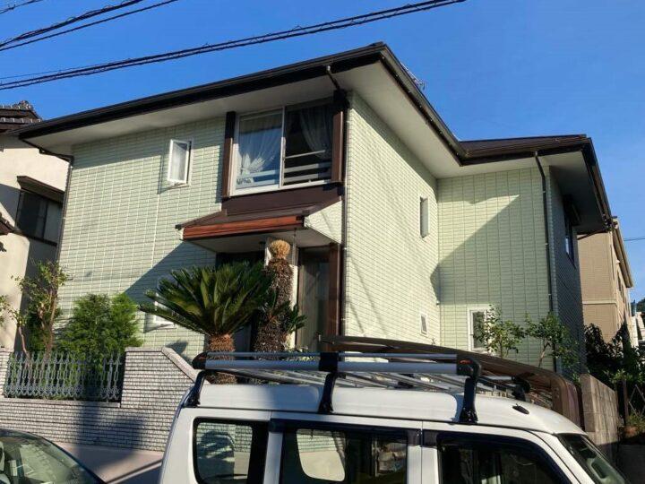 広島市東区 H様邸外装修繕塗装工事